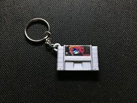 Snes Super Metroid 3D Printed Cartridge Keychain Super Nintendo