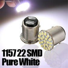 4x 1157 S25 P21/5W BAY15d 22 SMD LED BLANC Phare Feu Stop Lampe AMPOULE 12V 1.4W