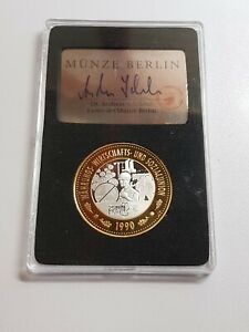 Wirtschafts 1990 Silver 999 Rare Excellent CONDITION Coins Germany