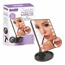 BAUER PROFESSIONAL TOUCH SENSITIVE 5x MAGNIFICATION MIRROR WITH 16 LED LIGHT UP