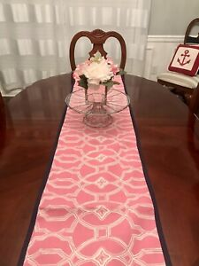 """Placemat Set 4 & Table Runner Reversible Pink 13"""" X 18"""" New 100% Cotton"""