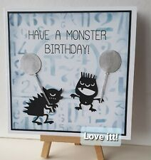 PERSONALISED MONSTER  BIRTHDAY CARD