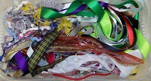 Ribbon Job Lot Bundle Ribbons, Trimmings, Offcuts, End of Reels 50+ metres