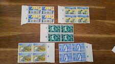 Nederland  1949 zomerzegels NVPH 513-517  blokken van 4 postfris  Cat E 66,-