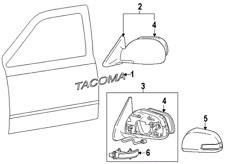 TOYOTA 8791004192 GENUINE OEM MIRROR ASSY