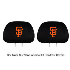 New Team ProMark MLB San Francisco Giants Head Rest Covers For Car Truck Suv Van