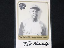 TED RADCLIFFE  2001 FLEER GREATS OF THE GAME  auto card  CHICAGO AMERICAN GIANTS