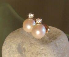 Perlen Diamant Ohrstecker 585 Gold