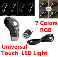 New Touch Sensitive LED Shifter Car Gear Shift Knob Red USB Charge HK K