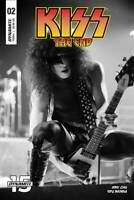 KISS END #2 COVER D PHOTO DYNAMITE 1ST PRINT B &W