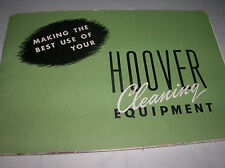 HOOVER Cleaning Equipment 1947  Products  Brochure & Fold out X