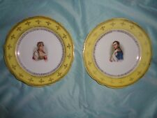 Pair of antique porcelain cabinet plates of Napoleon  & Josephine