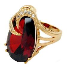 Gelbgold beschichtete Modeschmuck-Ringe für Damen mit 60 (19,1 Ø)