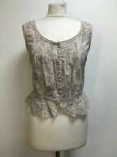Vintage All Saints Dictation Bodice sleeveless cotton top magnolia pearl vibe 12