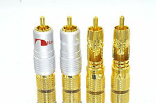 8 High Quality Nakamichi RCA Locking Plug Gold Audio Adapter Connector N0816 USA