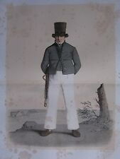 1872 PRINT SWEDISH PEASANT COSTUME ~ DISTRICT OF SKYTT Skanska Folkdragter