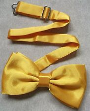 TOP QUALITY MENS DICKIE BOW TIE GOLDEN YELLOW ADJUSTABLE WEDDING BOWTIE NEW