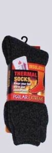 Polar Extreme Insulated Thermal Socks Mens Multi-color Marl Sock Size 10-13 SALE