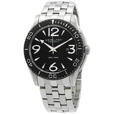 Hamilton Jazzmaster Seaview Black Dial Stainless Steel Mens Watch H37715135