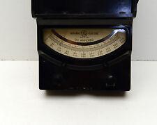 Vintage Gauge Steam Punk General Electric Dc Amperes Amps Bakelite