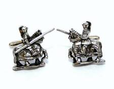 Medieval Jousting Knight Cufflinks, English Pewter, Handmade, Gift Boxed (wa-LS)