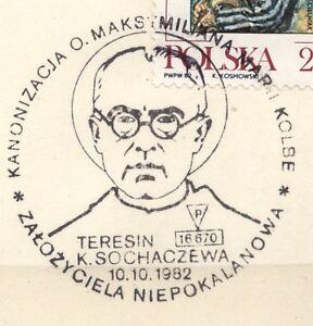 POLAND 1982.10.10 POSTMARK  St. M. Kolbe (1894-1941)