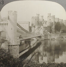 Keystone Stereoview of Conway Castle, Conway, Wales from 1910's Education Set #B