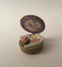 Dolls House Needlework Basket