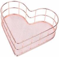 Iron Storage Basket Metal Wire Mesh Basketry Bathroom kitchen Bath Tray Desk