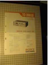 Sony Tc-206Sd Original Cassette Deck Service Manual