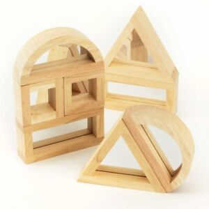 Large Mirror Building Blocks Pack of 8 Sensory Education Early Years Learning