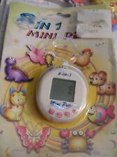 Picture Art 8 in 1 mini pets virtual pet white w PINK buttons VTG NIP 1997 AS IS