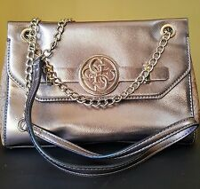 NWOT Guess Katlin Convertible Crossbody Handbag Bronze MSRP $130 #4