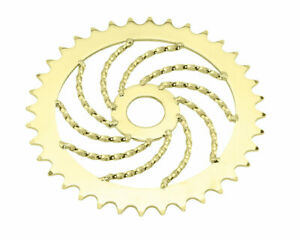 Gold Bicycle Twisted Chainring Sprocket 36T Cruiser Lowrider Bikes