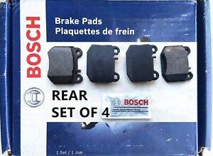 Rear Disc Brake Pad Set for 2000-2003 Mercedes-Benz ML55 AMG,Bosch BE874 SEMIMET