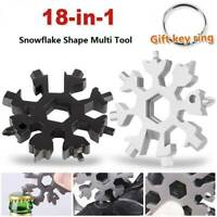 18 in1 Multi-Tool Snowflake Key Chain Screwdriver Wrench Bottle Opener Portable
