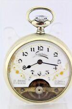 Antike Louisine 8 Tage Days Jours Giorni Taschenuhr pocket watch Ø 49 mm Nickel