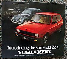 Yugo Auto/Car Brochure 1985 Introducing The Same Old Idea $3990 Mfg Sugg Price