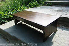 """Handcrafted Heavy Duty Step Stool 27"""" L, Wood Bedside Fits under bed 7.5"""" Walnut"""