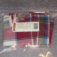 Longaberger Paprika Plaid SMALL BOARDWALK Basket Liner... RARE ~ New in Bag!