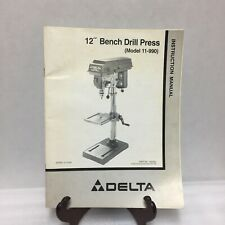 "Delta 12"" Bench Drill Press Model 11-990 Instruction Manual ONLY Spanish English"