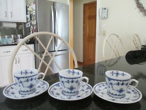 "6pc Furnivals LTD. DENMARK Demitasse Cups and Saucers 2""        England"