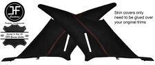RED STITCH 2X REAR QUARTER PANEL SUEDE COVERS FITS MERCEDES W202 C CLASS