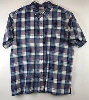 Tommy Bahama Mens Plaid Print Silk Blend Short Sleeve Button Down Shirt Sz 2XL