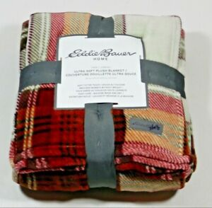 Eddie Bauer Home Blanket Plaid 60'' x 90''