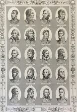 Maréchaux généraux Révolution Empire Napoléon Bonaparte 1850 Maréchal Général 5