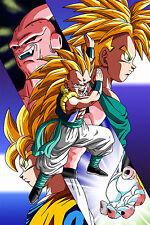 Dragon Ball Z Poster Majin Boo Gotenks Trunks Goten 12inx18inches Free Shipping