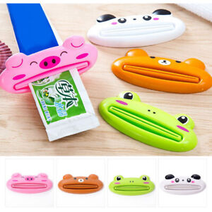 Toothpaste Squeezer Dispenser Rolling Tube Holder Stand For Home Bathroom Cute