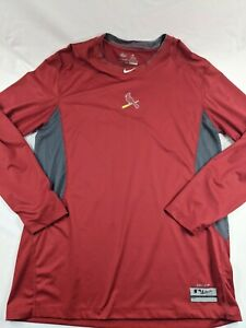Nike Pro Combat Mens XL Shirt St. Louis Cardinals Fitted MLB Dri-Fit Red Large