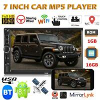 "7"" 2DIN Android8.1 Autoradio Stereo Quad Core GPS Navi WiFi BT MP5 Player 1+16GB"